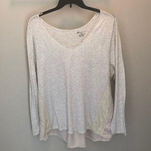 Grey/off white long sleeve shirt